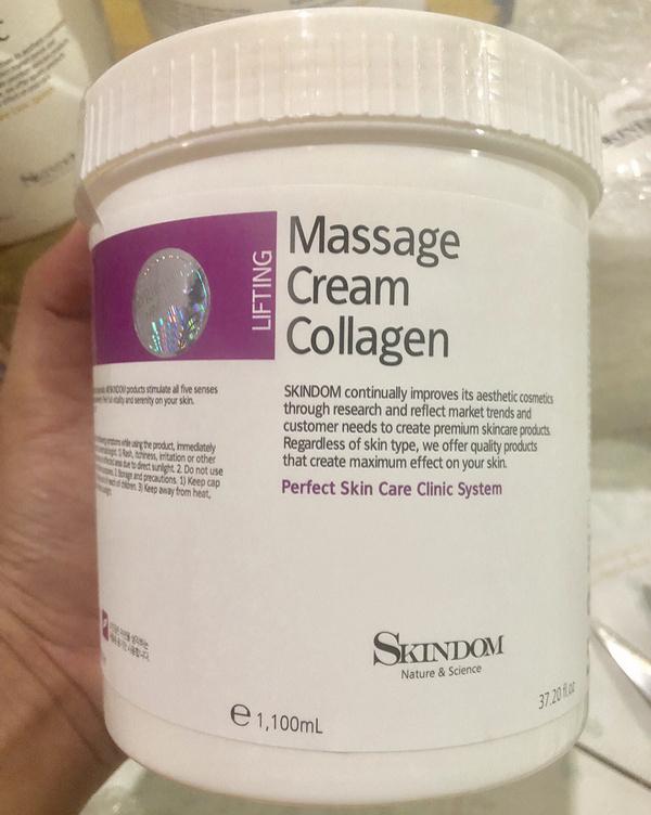 kem massage mặt collagen